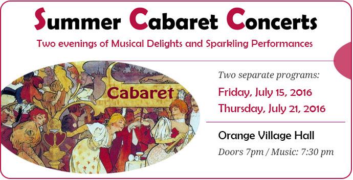 Summer Cabaret Concertw