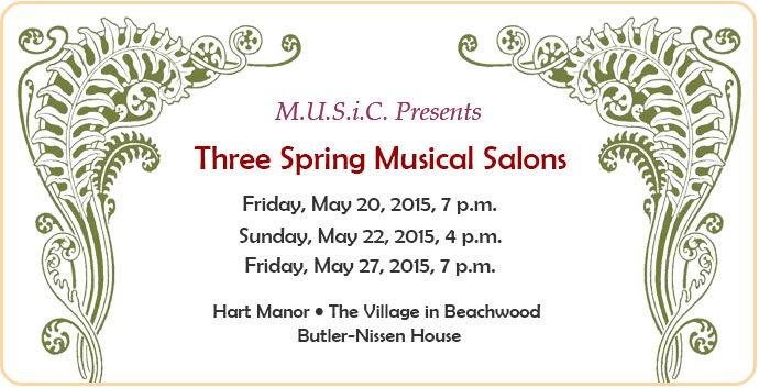 Spring Musical Salon May 2016