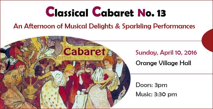 Classical Cabaret April 2016